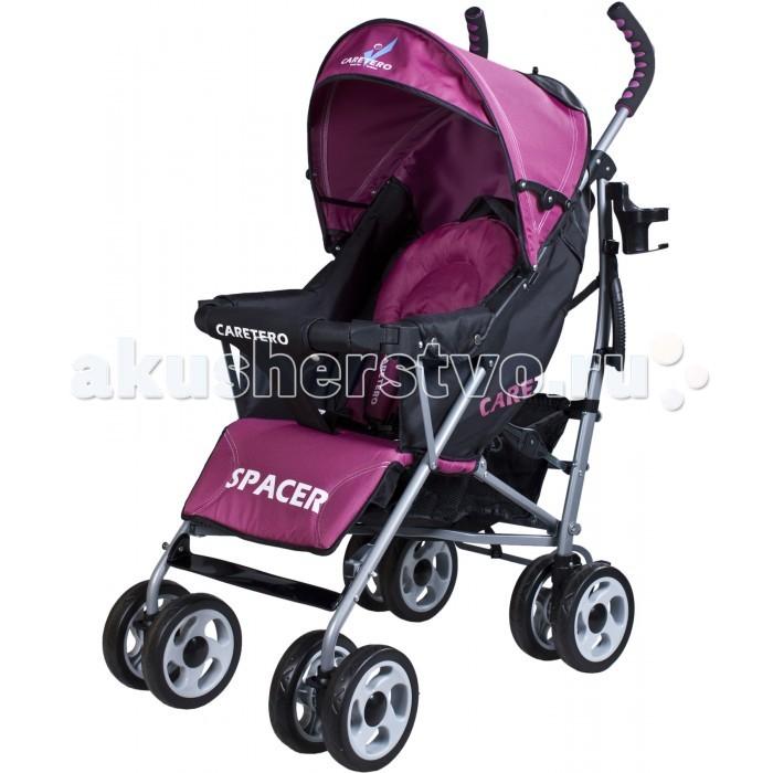Коляска-трость Caretero Spacer ClassicSpacer ClassicКоляска-трость Caretero Spacer это идеальный выбор для активных родителей, которые заботятся о комфорте ребенка во время прогулок на свежем воздухе. Благодаря амортизации задних колес, которые сглаживают точки от неровных дорог, ни что не потревожит сон вашего малыша.  Особенности: Прогулочная коляска подходит для детей от 6 месяцев, весом до 15 кг Удобная система «трость» Четыре пары сдвоенных полиуретановых колес Использованные при производстве высококачественные материалы устойчивы к воздействию внешних факторов Легкий интуитивный механизм складывания и удобная ручка для транспортировки коляски Эргономичная ручка очень удобна в управлении коляской Поворотные передние колеса с блокировкой прямой езды, для облегчения управления коляской Амортизируемые задние колеса оснащены двумя независимыми тормозами; 5-позиционные ремни с накладками надежно защищают и удерживают ребенка в коляске ребенка Съемная дуга безопасности обеспечивает дополнительную безопасность Регулируемый угол наклона спинки в четырех положениях, обеспечит комфорт вашему малышу Люлька с глубоким козырьком защитит малыша от солнца и ветра, а дополнительное окошко позволяет наблюдать за ним Карман на липучке позволит держать нужные вещи всегда под рукой Вместительная и практичная корзина для покупок Широкая цветовая гамма Размеры – 80х50х105см. Вес: 9,3 кг. Регулировка спинки 4 положения Размер в разложенном виде, см 50x84x105 Размер в сложенном виде, см 40х31х105 Материал(тип) колес полиуретан  В комплекте: Чехол на ножки Дождевик<br>
