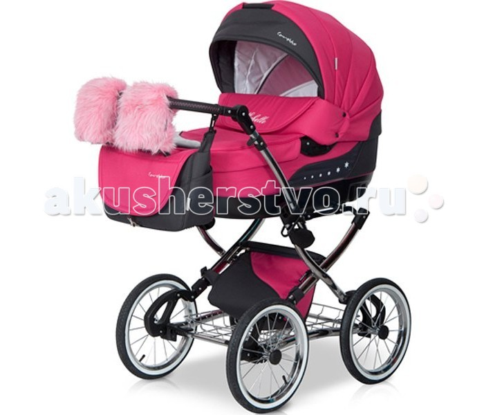 Коляски 2 в 1 Caretto Michelle 2 в 1 caretto 2 в 1 michelle color розовый цветы