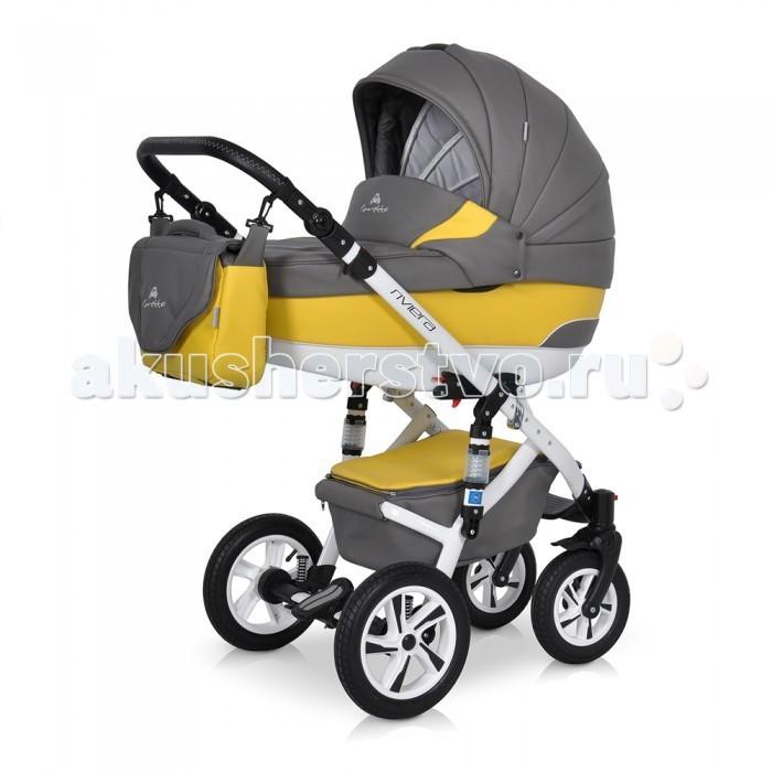 Коляска Caretto Riveira S 2 в 1Riveira S 2 в 1Детская коляска Caretto Riviera S 2 в 1 выглядит элегантно и очень современно. Технические характеристики продуманы до мелочей, здесь есть все, что необходимо малышу с рождения до 3 лет. Люлька и прогулочный блок в детской коляске устанавливаются на шасси в обоих направления, что делают ее удобной и многофункциональной для родителей.   Поворотный механизм на передних колесах и двойная регулируемая амортизация делают коляску маневренной и плавной при вождении на неровных дорогах зимой в снег и в сезон дождей. Caretto Riviera S 2 в 1 – это модель для тех, кто любит следить за модой и с комфортом растить малыша.  модульная система для детей с рождения до 3 лет максимальная нагрузка – 15 кг вариант – зима-лето установка модулей в 2 направлениях возможность установки автокресла  Шасси и рама: алюминиевая рама колеса надувные в комбинации с пластиком, на подшипниках, высокой проходимости, съемные для чистки передние колеса поворотные на 360 градусов, с блокировкой центральный тормоз с блокировкой задних колес амортизация на пружинах с дополнительной функцией на раме регулируемая высота ручки на несколько уровней механизмы и фиксаторы для установки модулей  Люлька: пластиковый цельнолитой корпус с жестким дном овальное дно с особой конструкцией снаружи выполняет функцию качалки высокие борта не продуваемые, безопасные от ударов регулируемый подголовник и дополнительная вентиляция на дне секция на молнии с противомоскитной сеткой внутренняя мягкая обивка — из натурального хлопка, съемная для стирки ортопедический матрас с натуральным наполнителем теплый капор с козырьком от солнца, со встроенной кожаной ручкой для переноски и бесшумным опусканием объемная накидка из утепленной ткани  Прогулочный блок: глубокое сиденье с регулируемой спинкой и подножкой в несколько положений мягкая внутренняя обивка, все части снимаются для чистки удобный капюшон с фиксаторами, опускается до бампера, открывается для обзора капюшон оснащен кармана