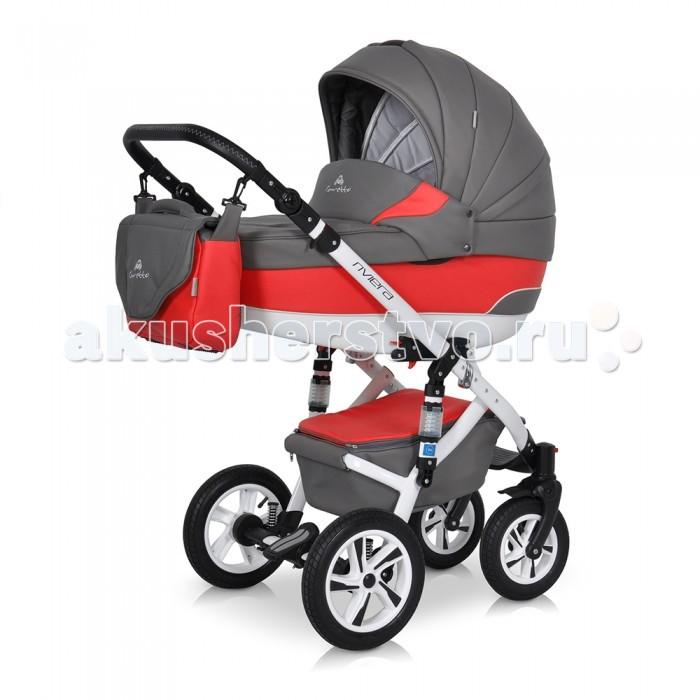 Коляска Caretto Riviera S F 3 в 1Riviera S F 3 в 1Коляска Caretto Riviera S F 3 в 1 включает в себе все необходимое малышу с самого рождения. Эта универсальная коляска разработана и изготовлена в соответствии с обязательными нормами и требованиями к детским товарам и имеет все необходимые сертификаты качества. Коляска выполнена из экологически чистых материалов морозостойких , с влагостойкой пропиткой и защитой от солнечных лучей. Весь модельный ряд представлен нежными натуральными оттенками, идеально подходящими для детей любого пола.  Шасси: алюминиевая рама колеса надувные в комбинации с пластиком, на подшипниках передние колеса поворотные на 360 градусов, с блокировкой центральный тормоз с блокировкой задних колес амортизация на пружинах с дополнительными аммортизаторами на раме регулируемая высота ручки на несколько уровней механизмы и фиксаторы для установки модулей. Люлька: пластиковый цельнолитой корпус с жестким дном овальное дно с особой конструкцией снаружи выполняет функцию качалки высокие борта не продуваемые, безопасные от ударов регулируемый подголовник и дополнительная вентиляция на дне секция на молнии с противомоскитной сеткой внутренняя мягкая обивкаиз натурального хлопка, съемная для стирки ортопедический матрас с натуральным наполнителем теплый капор с козырьком от солнца, со встроенной кожаной ручкой для переноски объемная накидка из утепленной ткани. Прогулочный блок: глубокое сиденье с регулируемой спинкой и подножкой в несколько положений мягкая внутренняя обивка, все части снимаются для чистки удобный капюшон с фиксаторами, опускается до бампера, открывается для обзора капюшон оснащен карманами для мелочей и смотровым окошком пятиточечные ремни безопасности с мягкими накладками и надежным замком теплая накидка на ножки закрытая корзина для покупок. Автокресло: автокресло является очень удобной частью конструкции рассчитано на деток до 13 кг можно использовать для новорожденных каркас автокресла сделан из жесткой пластмассы, смягчает нахожде