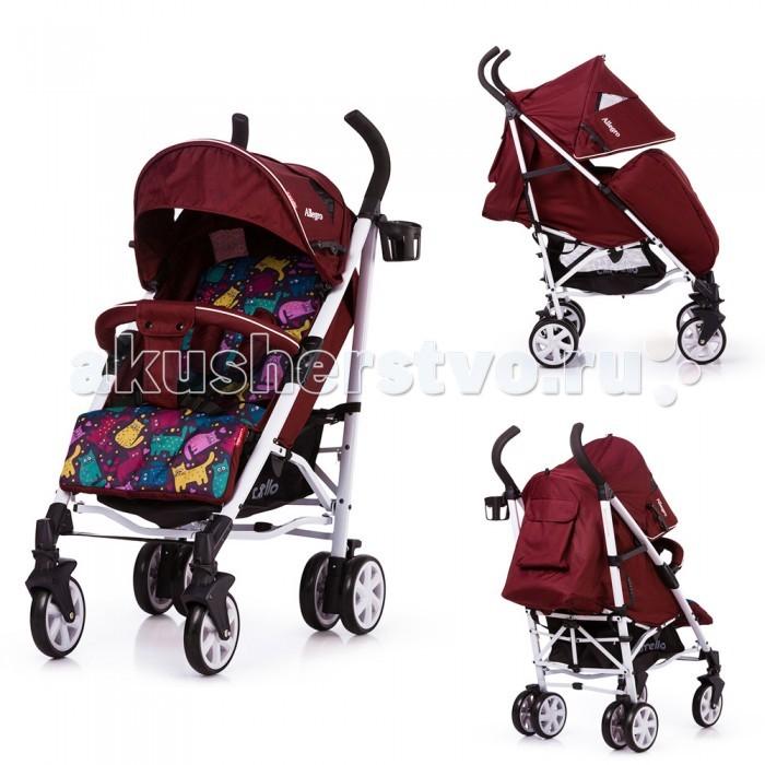 Прогулочная коляска Carrello  AllegroAllegroПрогулочная коляска Carrello Allegro имеет все необходимое для комфортной прогулки, как малыша, так и его родителей.   Carrello Allegro CRL-10101 выполнена в оригинальном и стильном дизайне из качественных и надежных материалов. Приятная ткань, привлекающая к себе внимание, достаточно практична при эксплуатации.  Данная модель легко складывается и раскладывается, при этом не занимает много места, что весьма удобно при поездках и хранении.  Порадует и ее легкость хода в сочетании с отличной маневренностью. Установленные пятиточечные ремни гарантируют безопасность малыша, а возможность выбора угла наклона спинки в Carrello Allegro CRL-10101 позволит ребенку поспать во время прогулок. Главная особенность этой модели - твердая  основа сиденья и спинки, что является исключительным для колясок складывающихся тростью  Размер в разложенном виде (ДхШхВ)- 86 x 51 х 105 см Размер люльки (ДхШхГ)- 82 x 38 х 24 см Вес - 8.6 кг Максимальная грузоподъемность - 15 кг Тип складывания - Трость Смотровое окно - Есть, два Регулировка спинки - 3 положения, включая лежа Бампер съемный Корзина Тип колес - Передние поворотные Материал колес - Полиуретан Аксессуары - Чехол на ножки, подстаканник<br>