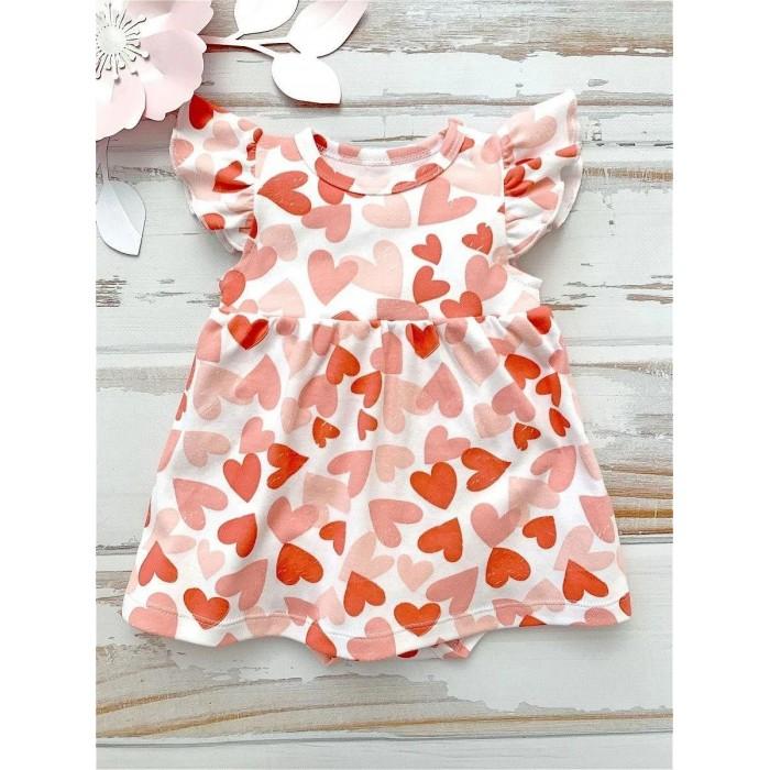Фото - Боди, песочники, комбинезоны Carrot Боди-платье Сердечки боди песочники комбинезоны carrot песочник дино в масках
