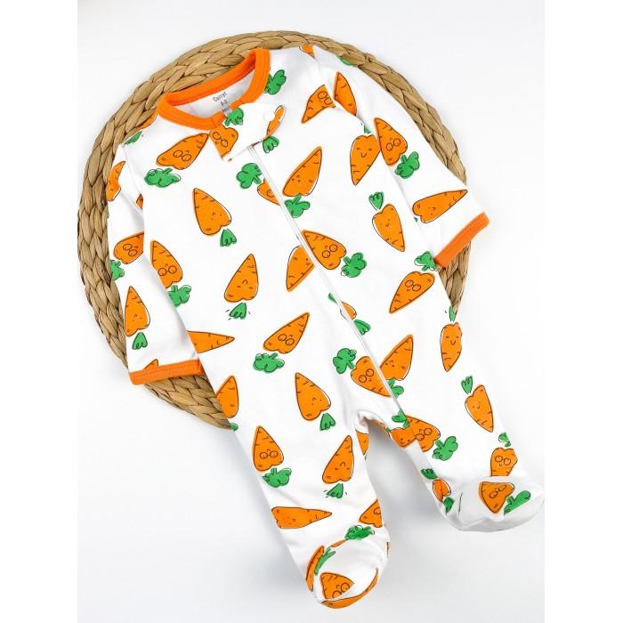 Купить Боди, песочники, комбинезоны, Carrot Комбинезон-слип на молнии Морковки