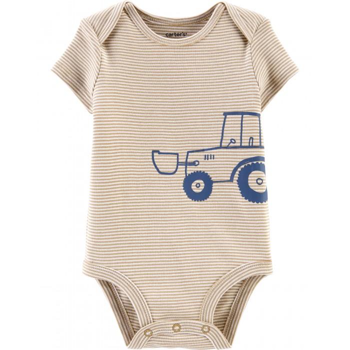 Carter's Боди для мальчика в полоску с трактором фото