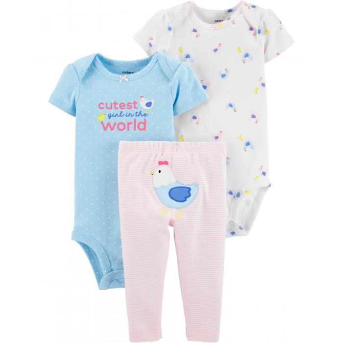 Купить Комплекты детской одежды, Carter's Комплект для девочки (боди, брюки) 3 предмета 1H464610