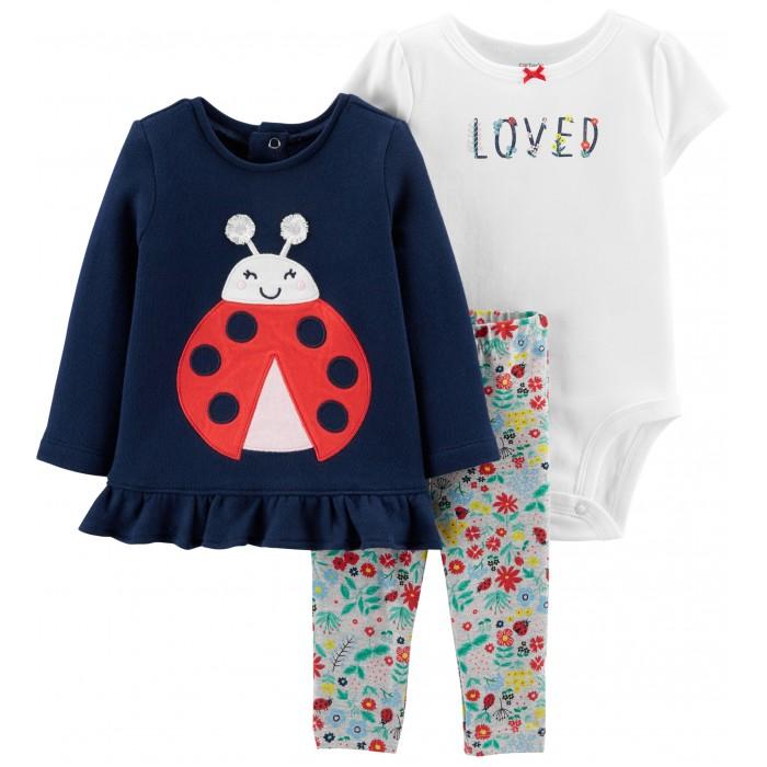 Комплекты детской одежды Carters Комплект для девочки Божья коровка (3 предмета)