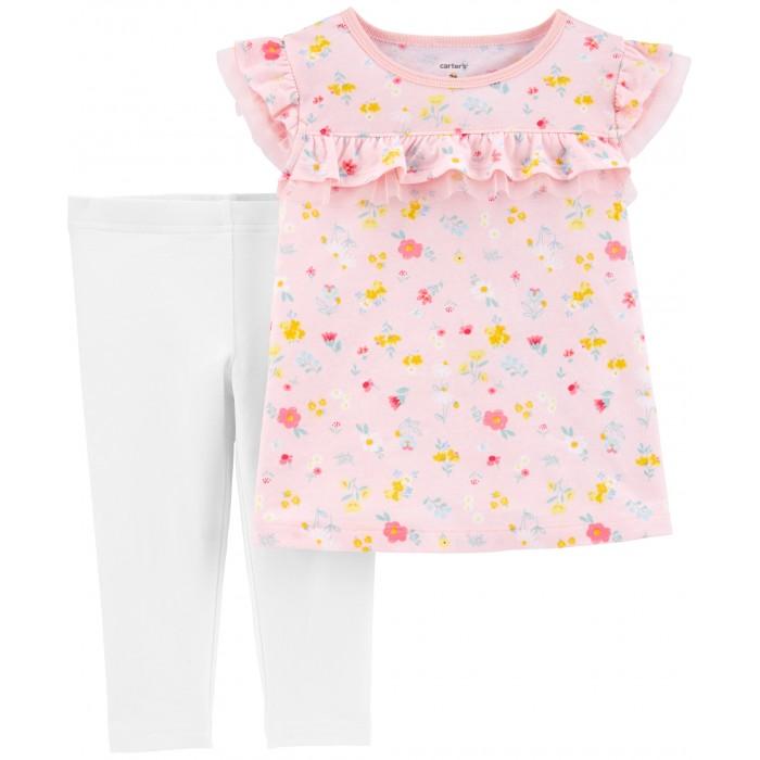 Комплекты детской одежды Carters Комплект для девочки Цветочки (2 предмета)
