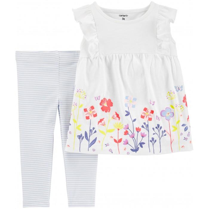 Комплекты детской одежды Carters Комплект для девочки Цветочная поляна (2 предмета)