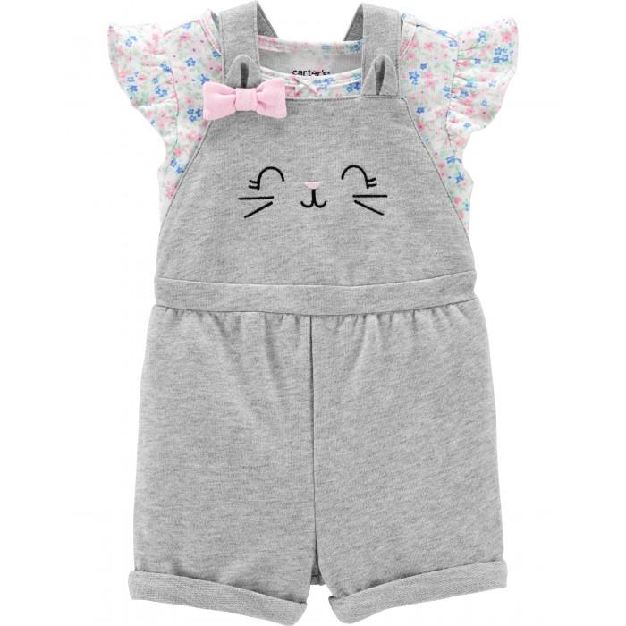 Комплекты детской одежды Carters Комплект для девочки Котенок (2 предмета)