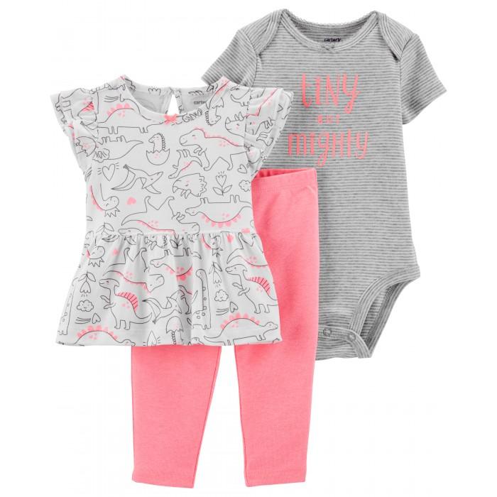 Комплекты детской одежды Carter's Комплект для девочки (лосины, туника, боди)