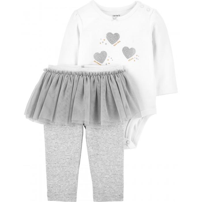 Комплекты детской одежды Carter's Комплект для девочки (полукомбинезон, брюки) 1J199410