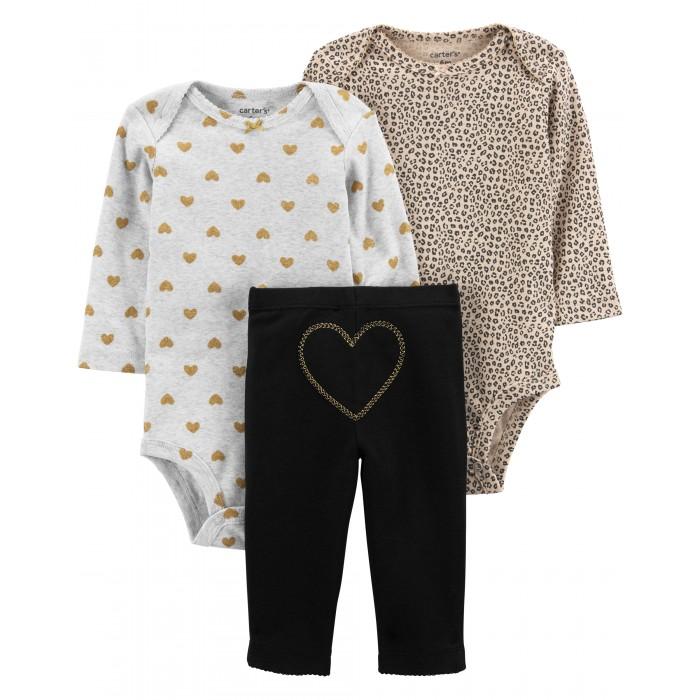 Комплекты детской одежды Carter's Комплект для девочки (полукомбинезоны, брюки) 1J959810 комплекты детской одежды лео комплект тигренок боди и полукомбинезон 3013а 1