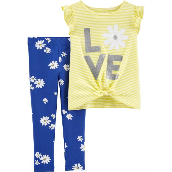 Комплекты детской одежды Carters Комплект для девочки Ромашки (2 предмета)