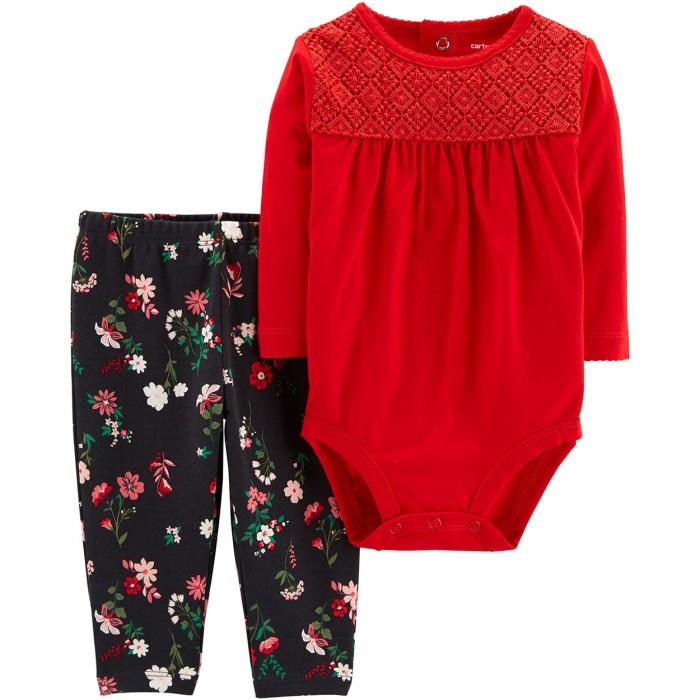 Carters Комплект для девочки (штаны и полукомбинезон) 2 предмета 121I675