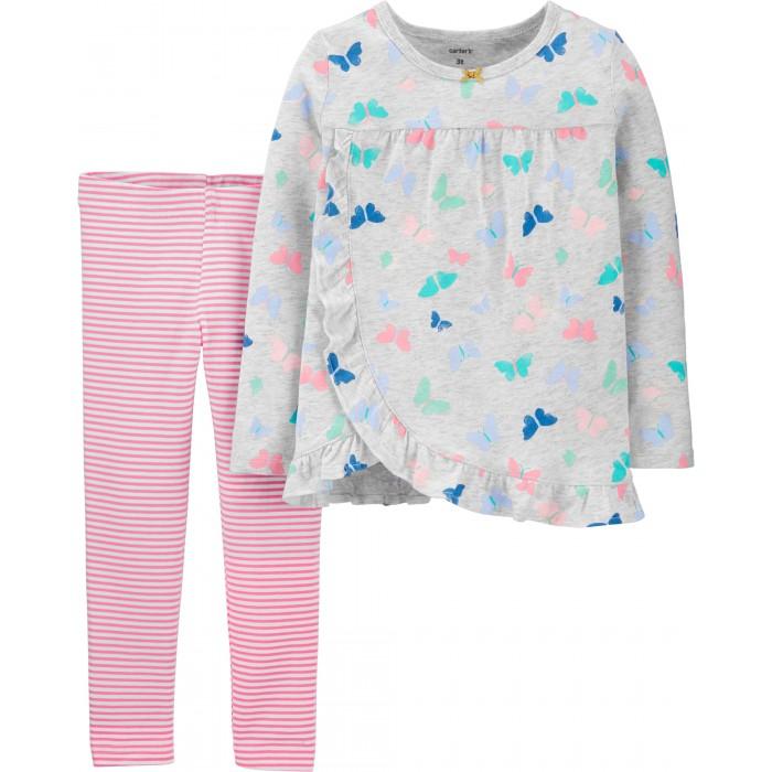 Комплекты детской одежды Carters Комплект для девочки (туника, брюки) 2H326210 костюм туника брюки clever woman studio