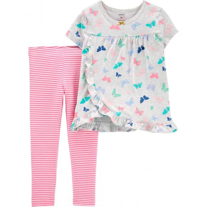 Комплекты детской одежды Carters Комплект для девочки (туника, брюки) 2H873210 костюм туника брюки clever woman studio