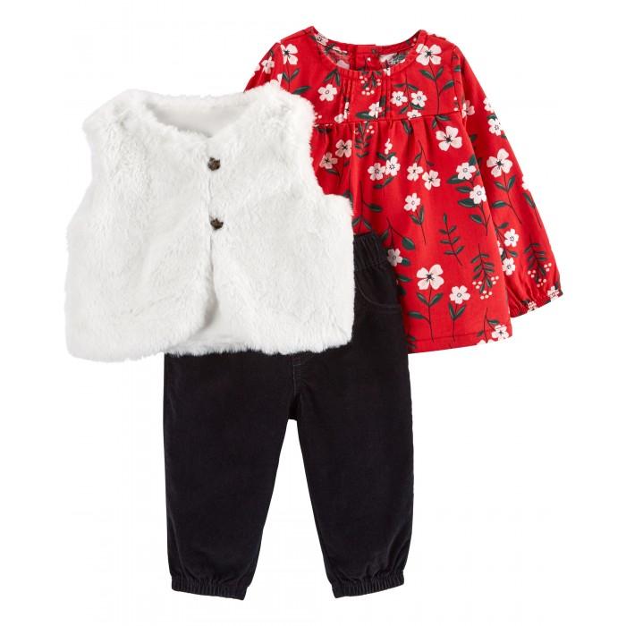 Фото - Комплекты детской одежды Carter's Комплект для девочки туника, брюки и жилет 1J195310 комплекты детской одежды mini world комплект для девочки туника бриджи