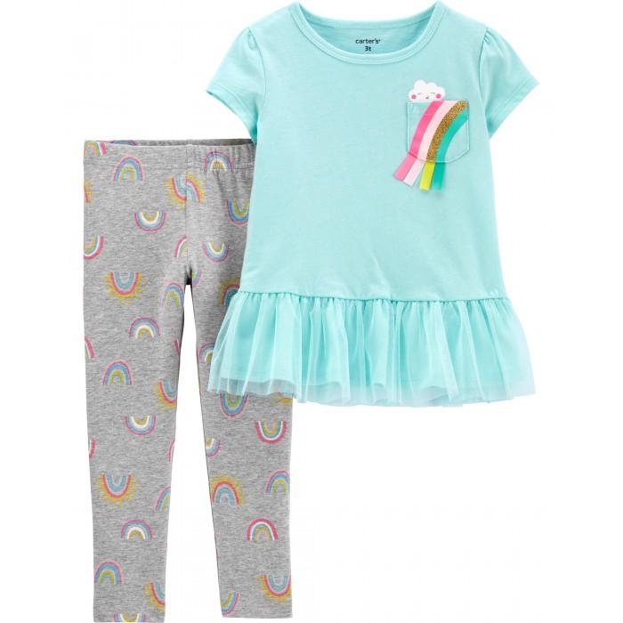 Комплекты детской одежды Carters Комплект для девочки (туника, брюки) Радуга костюм туника брюки clever woman studio