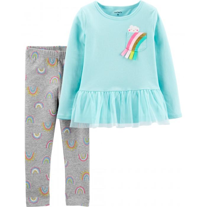 Комплекты детской одежды Carters Комплект для девочки (туника, брюки) костюм туника брюки clever woman studio