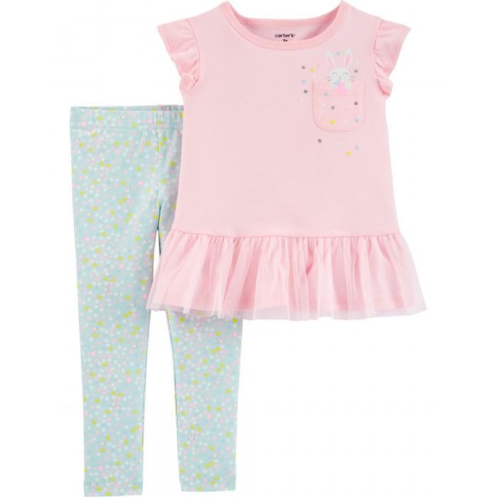 Комплекты детской одежды Carters Комплект для девочки Зайчик (2 предмета)