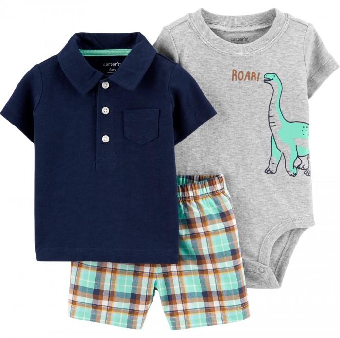Комплекты детской одежды Carters Комплект для мальчика 1H350310 комплекты детской одежды elaria комплект для мальчика футболка и шорты bks01 8