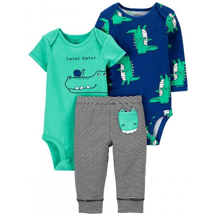 Комплекты детской одежды Carter's Комплект для мальчика (боди, полукомбинезон, брюки) 1J996410 комплекты детской одежды лео комплект тигренок боди и полукомбинезон 3013а 1