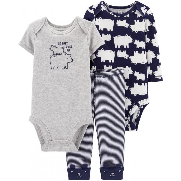 Купить Комплекты детской одежды, Carter's Комплект для мальчика (боди, полукомбинезон, брюки) 3 предмета 17645210
