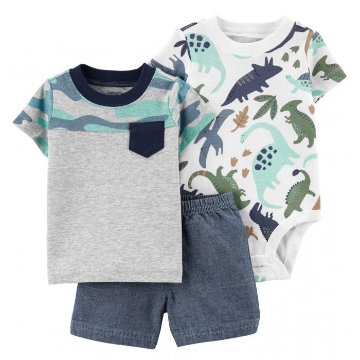 Carter's Комплект для мальчика (боди, шорты, футболка) 1K444510, Комплект для мальчика (боди, шорты, футболка) 1K444510