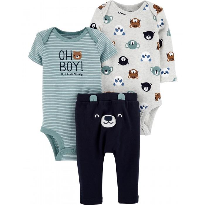 Carter's Комплект для мальчика (комбинезон, боди, брюки)