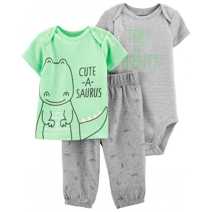 Купить Комплекты детской одежды, Carter's Комплект для мальчика (брюки, футболка, боди)