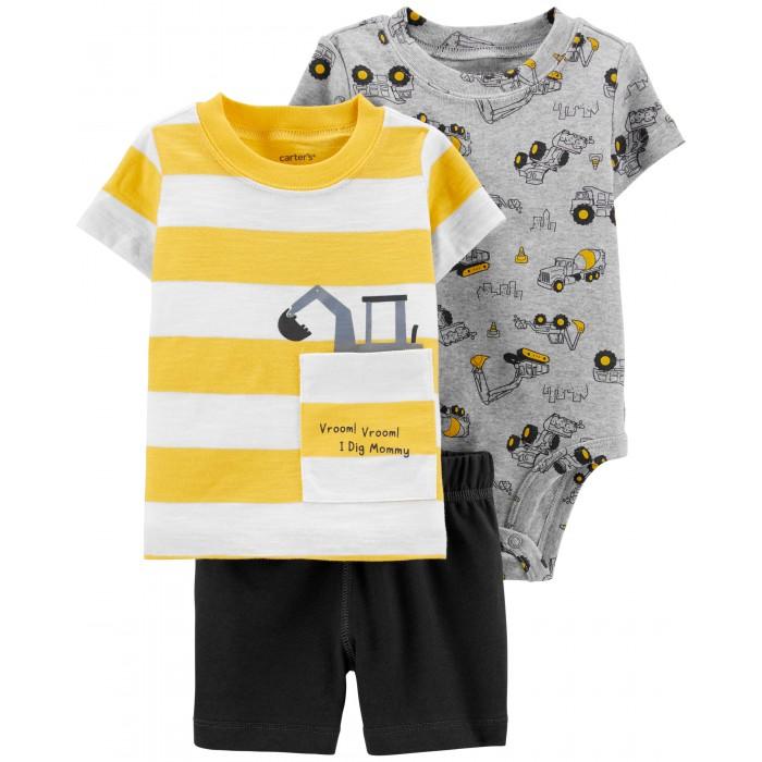 Купить Комплекты детской одежды, Carter's Комплект для мальчика (футболка, боди, шорты) 1H350810