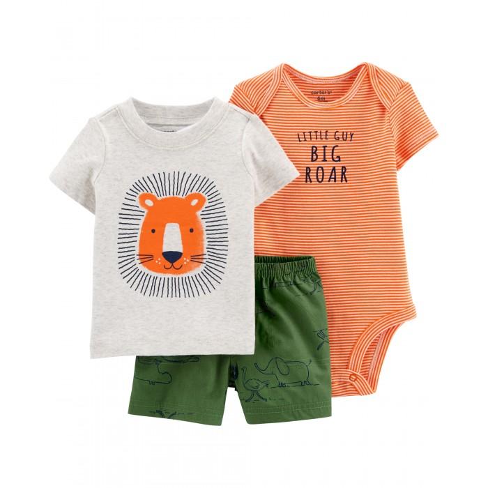 Купить Комплекты детской одежды, Carter's Комплект для мальчика (футболка, боди, шорты)