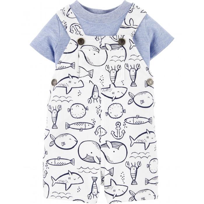 Комплекты детской одежды Carter's Комплект для мальчика (футболка, полукомбинезон) комплекты детской одежды лео комплект тигренок боди и полукомбинезон 3013а 1