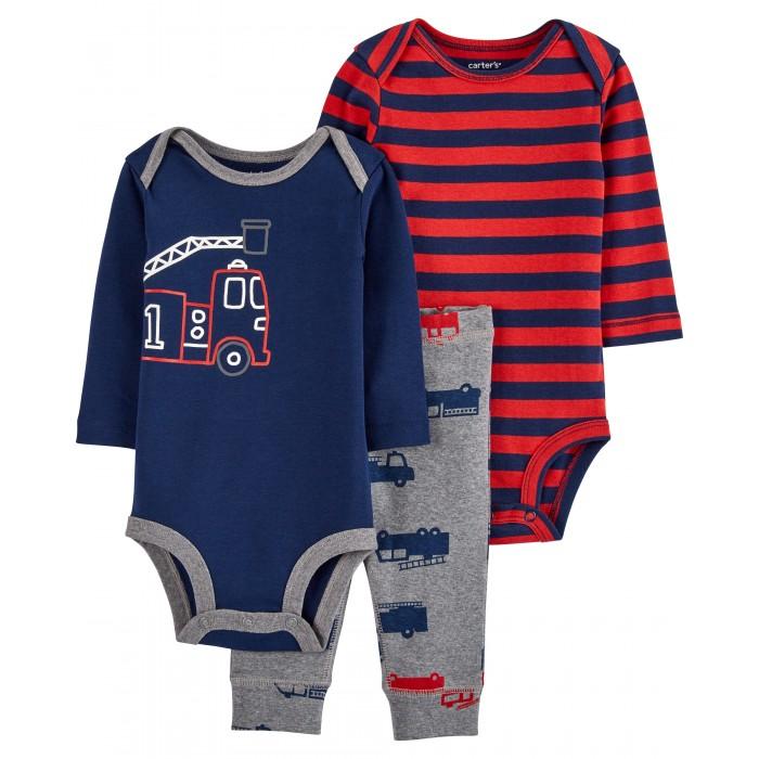 Купить Комплекты детской одежды, Carter's Комплект для мальчика боди 2 шт. и брюки с машинами