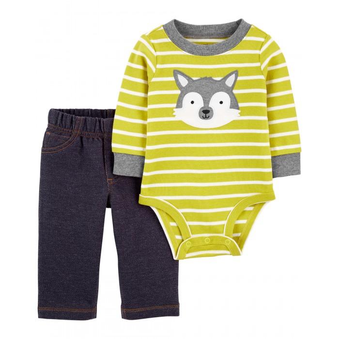Комплекты детской одежды Carter's Комплект для мальчика (полукомбинезон, брюки) 1J953310 комплекты детской одежды лео комплект тигренок боди и полукомбинезон 3013а 1