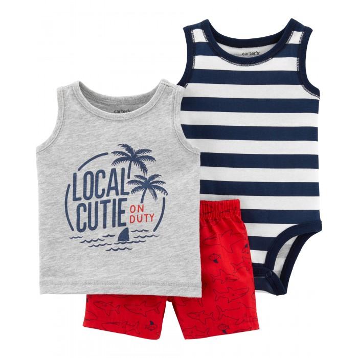 Купить Комплекты детской одежды, Carter's Комплект для мальчика (шорты, боди, футболка)