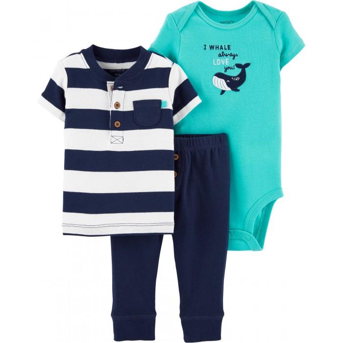 комплекты детской одежды bembi комплект детский 3 предмета кп184 Комплекты детской одежды Carter's Комплект Кит (3 предмета)