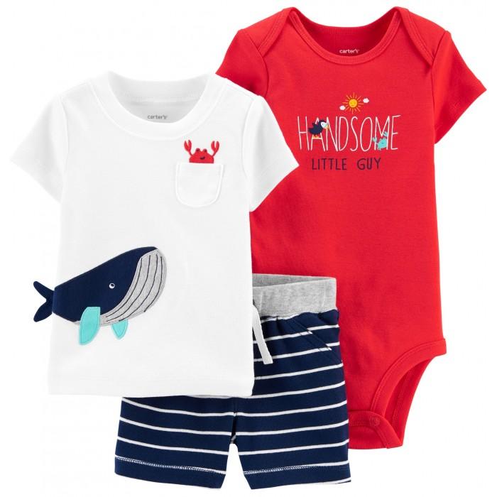 Комплекты детской одежды Carters Комплект Кит и краб (3 предмета)