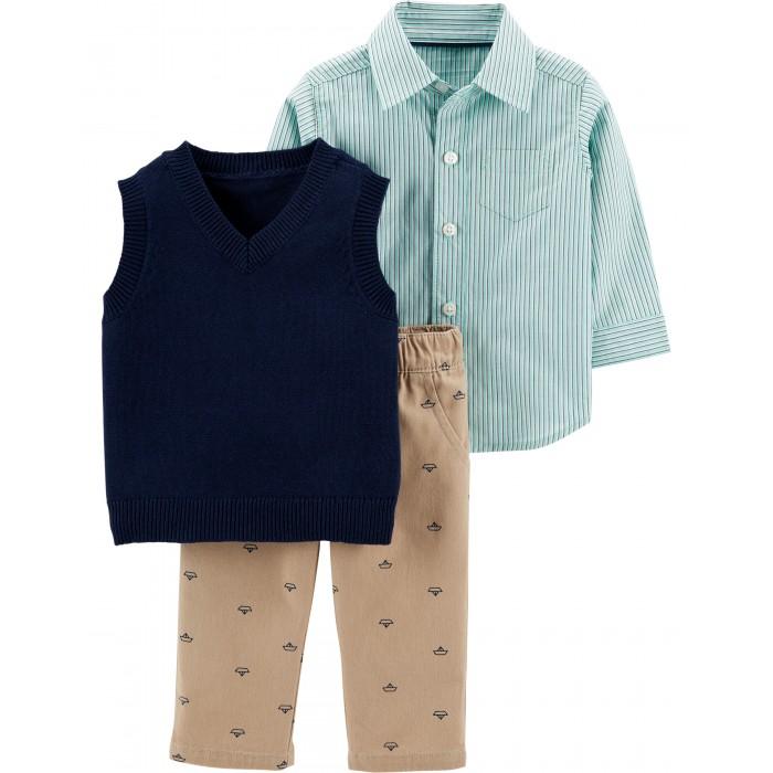 комплекты детской одежды bembi комплект детский 3 предмета кп184 Комплекты детской одежды Carter's Комплект Кораблики (3 предмета)