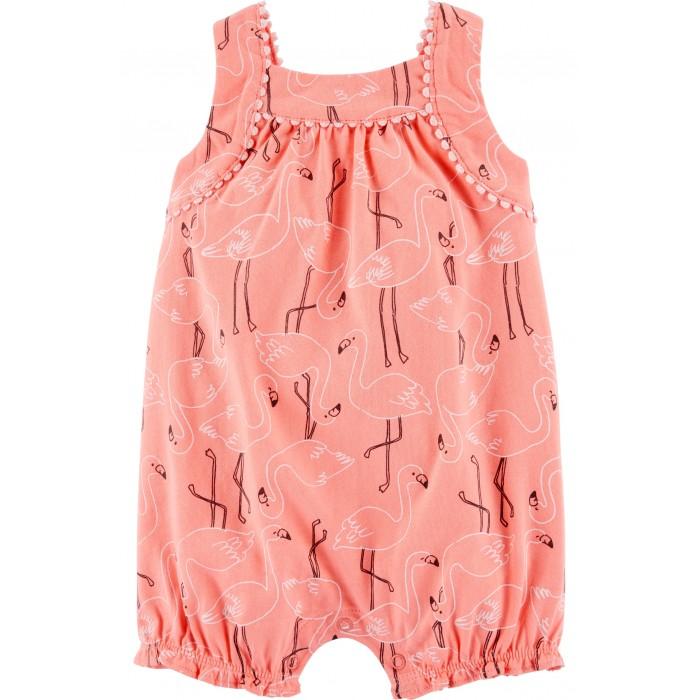 Боди, песочники, комбинезоны Carter's Песочник для девочки Фламинго