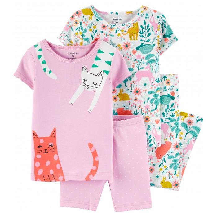Домашняя одежда Carters Пижамный комплект Кошки и Волшебный лес (4 предмета) александр григорьев волшебныйлес сказка