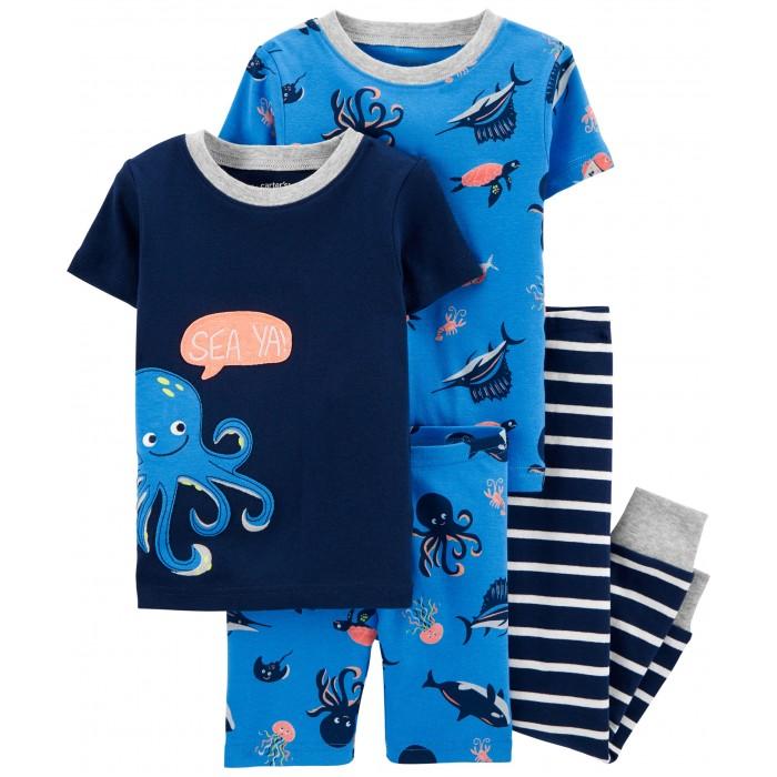 Купить Домашняя одежда, Carter's Пижамный комплект Осьминог (4 предмета)