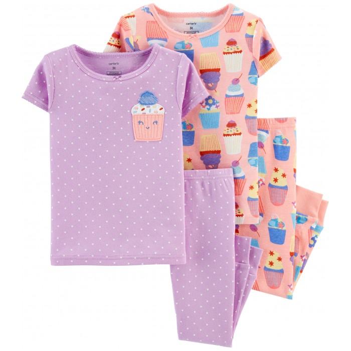 Домашняя одежда Carter's Пижамный комплект Пирожные (4 предмета) футболки и топы bodo футболка 4 109u 4 110u 4 111u