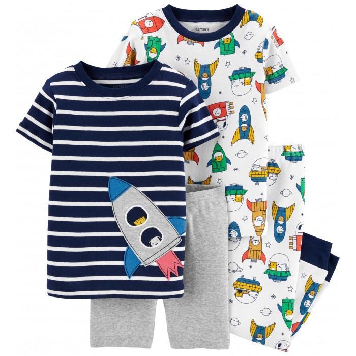 Домашняя одежда Carters Пижамный комплект Ракеты (4 предмета) пижамный топ julia