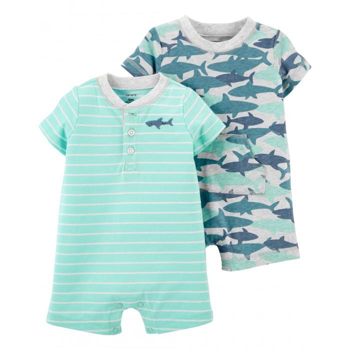 Купить Боди, песочники, комбинезоны, Carter's Полукомбинезон с акулами для мальчика 2 шт. 1K658310