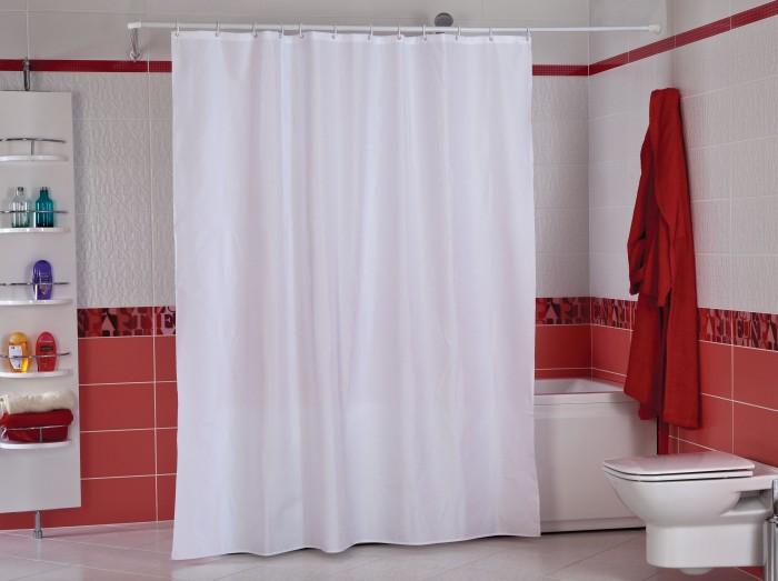 Купить Шторы для ванны, Castafiore Шторы для ванн полиэстер Dobby Check 180х200 см