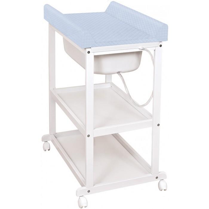 Купить со скидкой Пеленальный столик Ceba Baby Laura white с ванночкой и матрасиком Caro