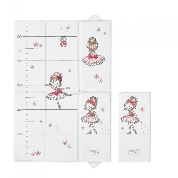 Накладки для пеленания Ceba Baby Матрас пеленальный мягкий для путешествий Prima Ballerina 40х60 см