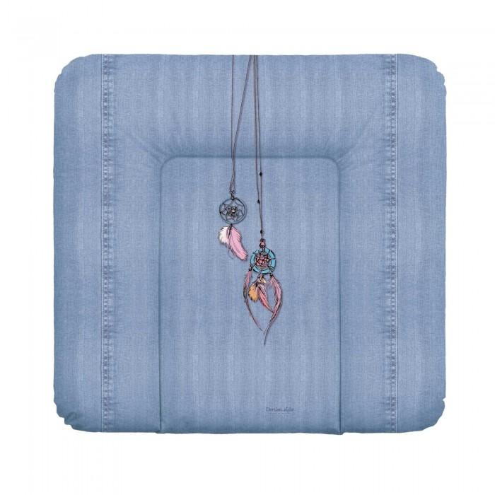 Купить Накладки для пеленания, Ceba Baby Матрас пеленальный мягкий на комод Denim Style 70х75 см