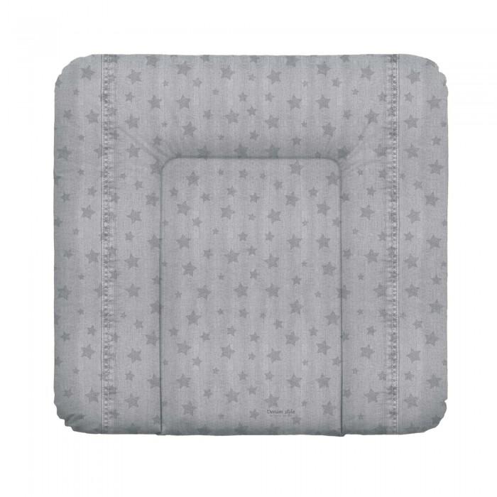 Накладки для пеленания Ceba Baby Матрас пеленальный мягкий на комод Denim Style 70х75 см